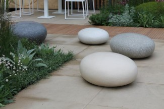 garden stones and landscaping rocks in the garden. Black Bedroom Furniture Sets. Home Design Ideas