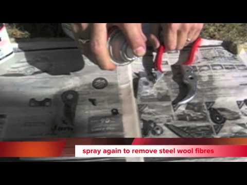 How to set up and sharpen Felco pruners secateurs